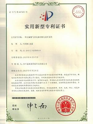 蓝雨禾断电延时系统发明证书
